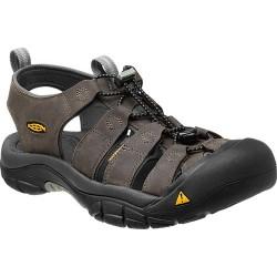 Keen Newport M neutral gray/gargoyle pánské kožené outdoorové sandály (1)