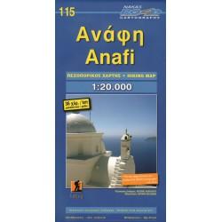 ORAMA 115 Anafi 1:20 000 turistická mapa