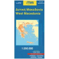 ORAMA 072 West Macedonia/Řecká Západní Makedonie 1:250 000 automapa