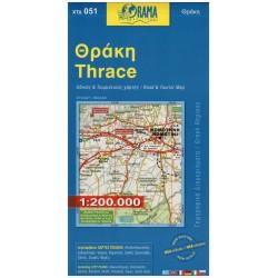 ORAMA 051 Thrace/Thrákie 1:200 000 automapa