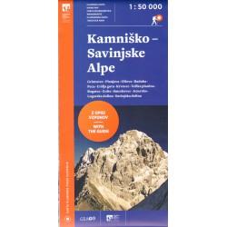 Geodetski Kamniško-Savinjské Alpy 1:50 000 turistická mapa