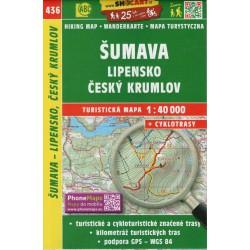 SHOCart 436 Šumava, Lipensko, Český Krumlov 1:40 000