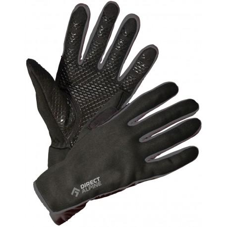 Direct Alpine Skisport 1.0 black grey unisex větruodolné softshellové  rukavice e913655f02