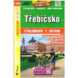 SHOCart 166 Třebíčsko 1:60 000 cykloturistická mapa