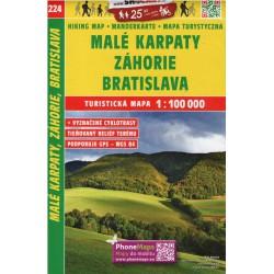 SHOCart 224 Malé Karpaty, Záhorie, Bratislava 1:100 000 turistická mapa