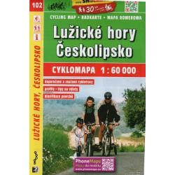 SHOCart 102 Lužické hory, Českolipsko 1:60 000 Oblast