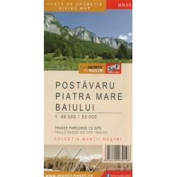 Schubert a Franzke Postavaru, Piatra Mare 1:45 000, Baiului 1:50 000 turistická mapa
