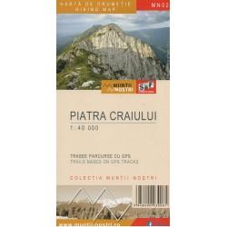 Schubert a Franzke MN02 Piatra Craiului 1:40 000 turistická mapa
