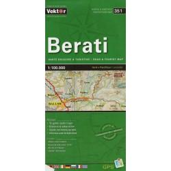 Vektor 351 Albánie Berati 1:100 000 automapa