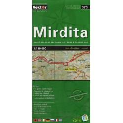 Vektor 375 Albánie Mirdita 1:110 000 automapa
