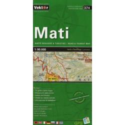 Vektor 374 Albánie Mati 1:90 000 automapa