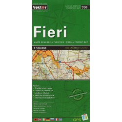 Vektor 358 Albánie Fieri 1:100 000 automapa
