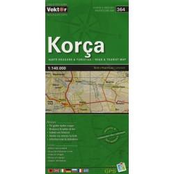Vektor 364 Albánie Korca 1:140 000 automapa