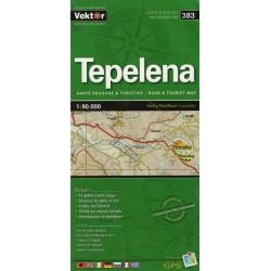 Vektor 383 Albánie Tepelena 1:90 000 automapa