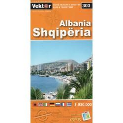 Vektor 303 Albánie 1:530 000 automapa