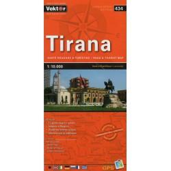 Vektor 434 Albánie Tirana 1:10 000 plán města