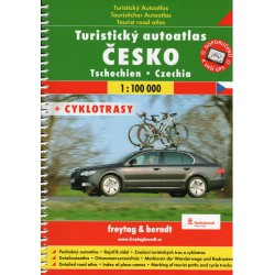 Freytag a Berndt Česko 1:100 000 turistický autoatlas