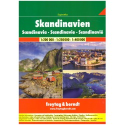 Freytag a Berndt Skandinávie 1:250 000 - 1:400 000 autoatlas