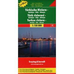 Freytag a Berndt Turecká Riviera, Antalya, Side, Alanya 1:150 000 automapa