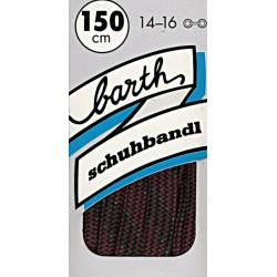 Barth Bergsport půlkulaté/150 cm/barva 128 tkaničky do bot
