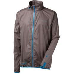 Progress Aero Running světle šedá/modrá unisex lehká bunda/větrovka