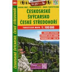 SHOCart 202 Českosaské Švýcarsko, České středohoří 1:100 000