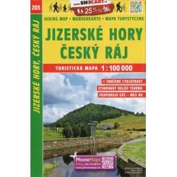 SHOCart 203 Jizerské hory, Český ráj 1:100 000 turistická mapa