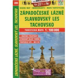 SHOCart 205 Západočeské lázně, Český les 1:100 000 turistická mapa