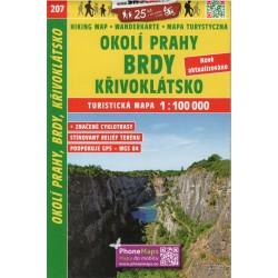 SHOCart 207 Okolí Prahy, Brdy, Křivoklátsko 1:100 000 turistická mapa