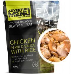 Adventure Menu Kuře na divoko s rýží 1 porce 400 g sterilované jídlo na cesty