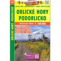SHOCart 211 Orlické hory, Podorlicko 1:100 000 turistická mapa