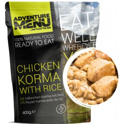 Adventure Menu Kuře Korma s rýží 1 porce 400 g sterilované jídlo na cesty