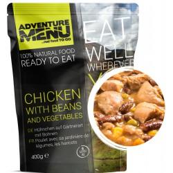 Adventure Menu Kuřecí po zahradnicku s fazolemi 1 porce 400 g sterilované jídlo na cesty