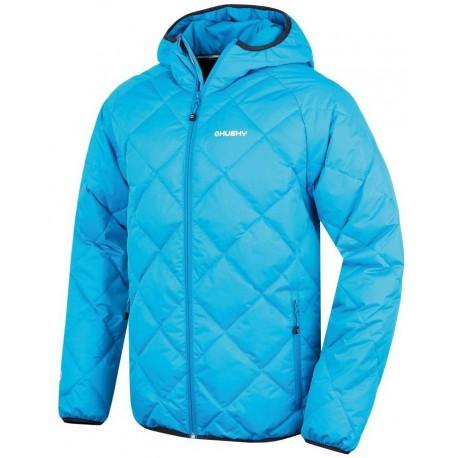Husky Form M modrá pánská zimní sportovní péřová bunda