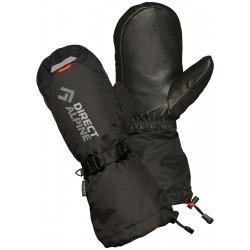 Direct Alpine Thermo Mitt 1.0 black unisex lyžařské palcové rukavice Primaloft