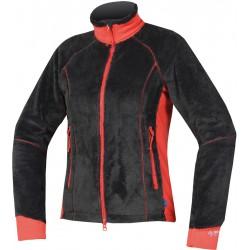 Direct Alpine Lava Lady 4.0 black/red dámská fleecová mikina Tecnostretch
