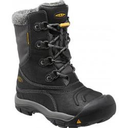 Keen Basin WP Jr black/gargoyle dětské zimní nepromokavé boty