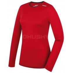 Husky Merino 100 Long Sleeve L červená dámské triko dlouhý rukáv Merino vlna