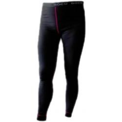Jitex Bikala 801 TIS černá/růžová dámské spodky dlouhá nohavice Merino vlna