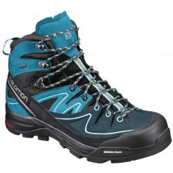 Salomon X Alp Mid LTR GTX W black/h. ocean 394702 dámské nepromokavé kožené trekové boty