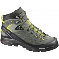 Salomon X Alp Mid LTR GTX shadow/lime punch 394723 pánské nepromokavé kožené trekové boty