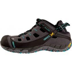 OriocX Herce gris/turquesa dámské kožené outdoorové sandály