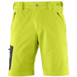 Salomon Wayfarer Short M lime punch 393191 pánské lehké softshellové šortky