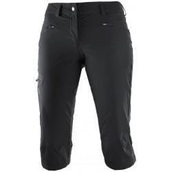 Salomon Wayfarer Capri W black 392993 dámské lehké softshellové tříčtvrteční kalhoty