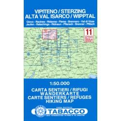 Tabacco 11 Vipiteno/Sterzing, Alta Val Isarco/Wipptal 1:50 000