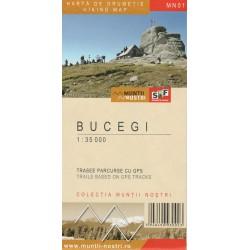 Schubert a Franzke MN01 Bucegi 1:35 000 turistická mapa