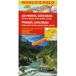Marco Polo Pyreneje, Costa Brava 1:300 000 automapa