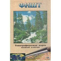 VKČ Rusko, Kavkaz, Fišt 1:100 000 turistická mapa