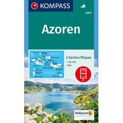 Kompass 2260 Azoren/Azory 1:50 000 turistická mapa