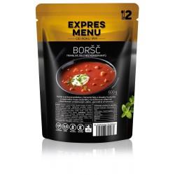 Expres Menu Polévka Boršč 600 g sterilované jídlo na cesty